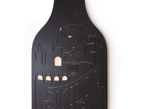 Sicilia wijnfles